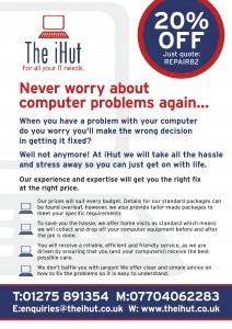 I Hut Front Leaflet