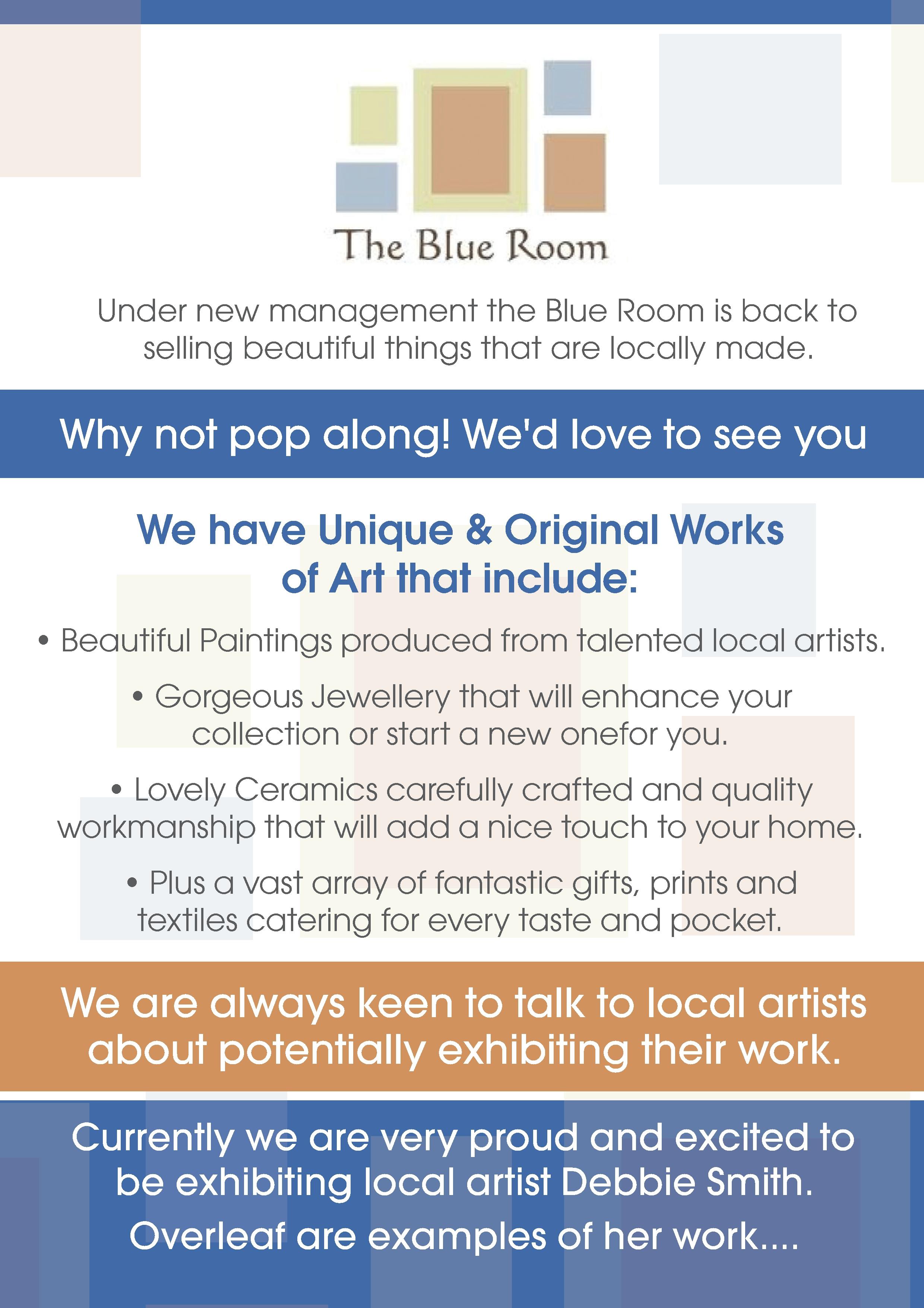 Blue Room Leaflet